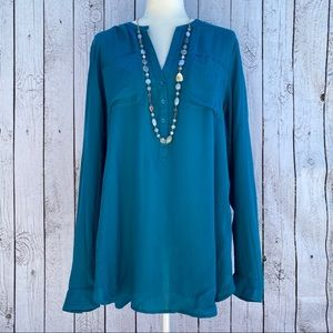 Lucky Brand Teal Blouse
